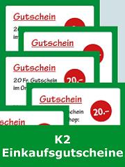 K2 Einkaufsgutscheine