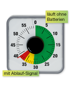 TimeTEX Zeitdauer Ampel-Uhr Automatik 19 x 19 cm