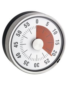 TimeTEX Zeitdauer Uhr rot Tischgrösse 78 mm ø