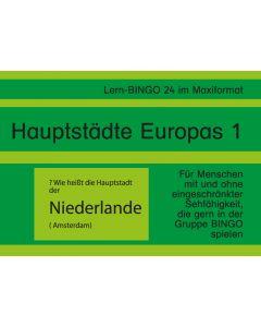 Lern-BINGO 24 Hauptstädte Europas 1 PDF