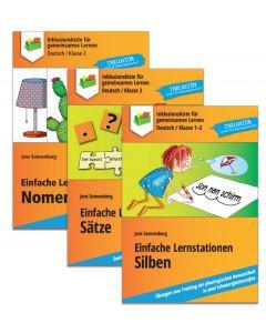 Sparpaket Lernstationen: Silben, Nomen, Sätze PDF