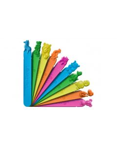 Bunte Plastikspatel mit Geschmack - Tiermotive
