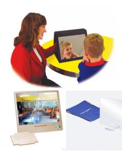 Spiegel für Lernkontrolle und Therapie