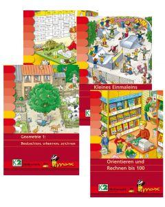 Max Paket Rechnen bis 100 (4 Mappen + Lerngerät)